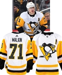 Evgeni Malkins 2018-19 Pittsburgh Penguins Game-Worn Alternate Captains Jersey with Team COA - Photo-Matched!