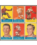 1957-58 Topps Hockey Starter Set (37/66) Including Rookie Cards of Bucyk, Hall, Ullman and Pilote Plus Howe Card