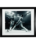 "Muhammad Ali ""Fight of the Century"" Signed Framed Photo with PSA/DNA LOA (27"" x 33"")"