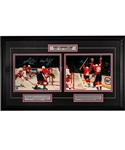 "Wayne Gretzky and Mario Lemieux Dual-Signed 1987 Canada Cup Limited-Edition Framed Display #93/199 with WGA COA (22 ½"" x 37 ½"")"
