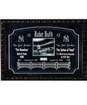 "Gorgeous Babe Ruth Signed New York Yankees Framed Display with PSA/DNA LOA (PSA/DNA MINT 9) (28 ½"" x 40 ½"")"