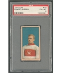 "1910-11 Imperial Tobacco C56 Hockey Card #20 HOFer Ernest ""Ernie"" Russell Rookie - Graded PSA 6 - Highest Graded!"