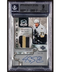 "2006-07 Upper Deck ""The Cup"" Hockey Card #171 Evgeni Malkin Autographed Rookie Patch RPA (34/99) - Beckett-Graded Mint 9"