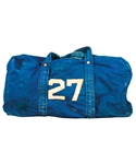 Vintage Circa Early-1960s Toronto Maple Leafs #27 Equipment Bag Attributed to Frank Mahovlich