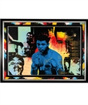 "Muhammad Ali ""The Greatest"" Signed Limited-Edition Steve Kaufman Hand Embellished Framed Print on Canvas #85/99 with JSA LOA and Art Gallery COA (40"" x 54 ½"")"