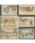 1870s/1890s Antique Hockey and Ice Polo Trade Card / Greeting Card Collection of 30