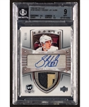 "2005-06 Upper Deck ""The Cup"" Hockey Card #180 Sidney Crosby Autographed Rookie Patch RPA #96/99 Beckett-Graded Mint 9"