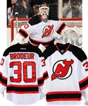 Martin Brodeurs 2013-14 New Jersey Devils Game-Issued Jersey with LOA – Final Season in New Jersey!