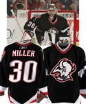Ryan Millers 2005-06 Buffalo Sabres Signed Game-Worn Playoffs Rookie Season Jersey with LOA