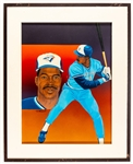 "Fred McGriff Toronto Blue Jays Framed Original 1989 Upper Deck Baseball Card Artwork by Vernon Wells (24 ½"" x 30 ½"")"