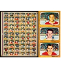 1966-67 Topps USA Test Hockey Complete 66-Card Set Uncut Sheet Featuring Bobby Orr Rookie Card