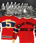 "Marvin ""Cyclone"" Wentworths 1937 ""Howie Morenz Memorial Game"" Montreal Canadiens/Maroons Game-Worn Wool Jersey with LOA"