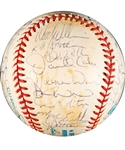 Toronto Blue Jays 1993 World Series Champions Team-Signed Ball by 35+ Including Carter, Alomar, Borders, Olerud and Molitor