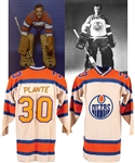 Jack Norris (1973-74) and Jacques Plantes (1974-75 Pre-Season & Publicity Photos) WHA Edmonton Oilers Game-Worn Jersey with LOA