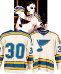 John Davidsons 1973-74 St. Louis Blues Game-Worn Rookie Season Jersey with LOA - Photo-Matched!