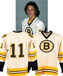 Andre Savards 1975-76 (Photo-Matched) and Bobby Schmautzs 1976-77 (Pre-Season) Boston Bruins Game-Worn Jersey with LOA - 30+ Team Repairs!