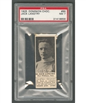 1925 Dominion Chocolate #86 Jack Langtry (with Tab) - Graded PSA 7 - Highest Graded!