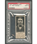 "1925 Dominion Chocolate #106 John ""Red"" Porter (with Tab) - Graded PSA 9 - Highest Graded"