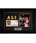 "Muhammad Ali 1960 Rome Olympics Gold Medal Winner Signed 30th Anniversary Gateway Cachet Framed Display (17"" x 19"")"