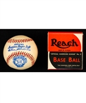 Vintage 1930s/1940s Official American League No. 0 William Harridge Reach Baseball in Original Box - Canadian Variation